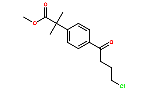 Methyl-4-(4-Chloro-1-Oxobutyl)-α,α-Dimethyl-Phenylacetate Featured Image