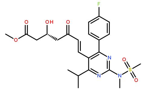 Methyl (+)-(3R)-7-[4-(4-fluorophenyl)-6-isopropyl-2-(N-methyl-N-methanesulfonylamino)pyrimidin-5-yl]-3-hydroxy-5-oxo-(6E)-heptenoate Featured Image