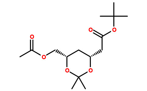 (4R-Cis)-6-[(acetyloxy)methyl]-2,2-dimethyl-1,3-dioxane-4-acetic acid,1,1-dimethylethyl ester (D5) Featured Image