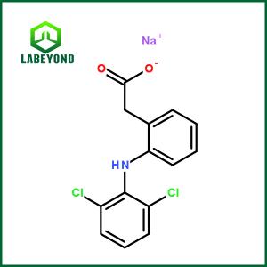 Diclofenac Sodium CAS:15307-79-6 C14H10Cl2NNaO2