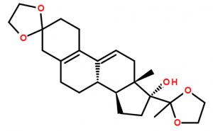 3,20-Bis(ethylenedioxy)-19-norpregna-5(10),9(11)-dien-17-ol