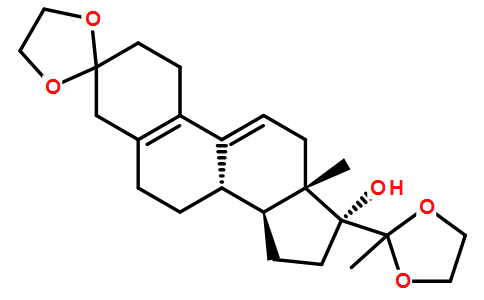3,20-Bis(ethylenedioxy)-19-norpregna-5(10),9(11)-dien-17-ol Featured Image